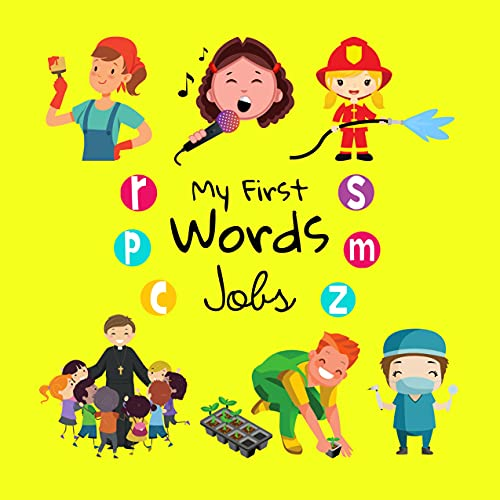 My First Words Jobs: A Fun Learning Activity Picture Book For Kids 1-3 Year Old's (English Edition)