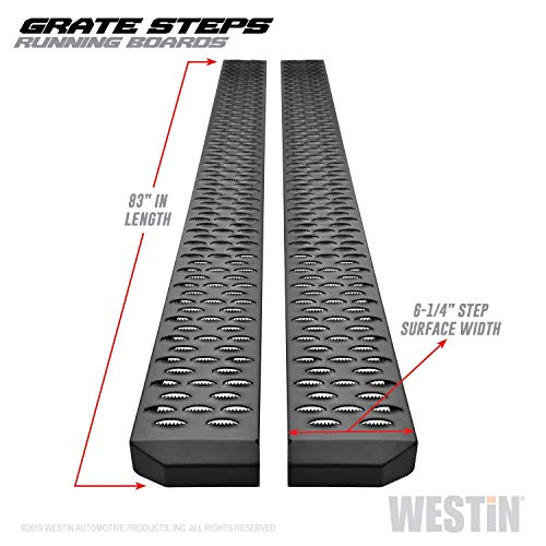 Westin 27-74765 Textured Black Grate Steps Running Boards Textured Black Running Boards 83 inches