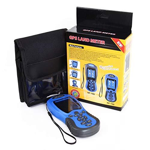 Ba30DEllylelly NF-198 Dispositivos de Prueba GPS Medidor de Tierra GPS Pantalla LCD Valor de medición Figura Medición de área de topografía y mapeo de Tierras agrícolas