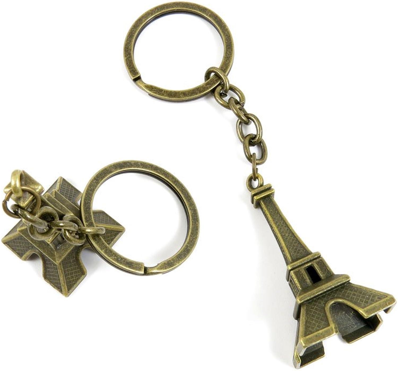 40 PCS Keyring Car Door Key Ring Tag Chain Keychain Wholesale Suppliers Charms Handmade T1VO1 Paris Eiffel Tower