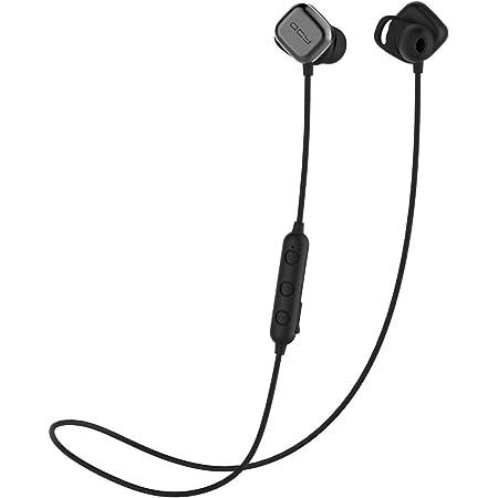QCY M1Pro ワイヤレス イヤホン Bluetooth マグネットスイッチ 自動ペアリング 自動ON/OFF カナル型 左右一体型 ブルートゥース イヤホン APT-X対応 重低音 CVC6.0 ノイズキャンセリング 両耳 8時間連続再生 防水 軽量 小型 リモコン マイク付き Siri対応 iPhone Android 対応 ハンズフリー 通話 ブラック QCY-M1ProBK