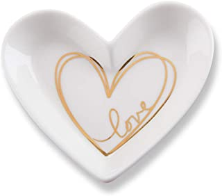 Kate Aspen 23192NA Heart Shaped Trinket, Jewelry Dish Party Favor, 3.25