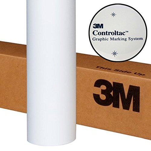 """3M Controltac White Frosted Translucent 1ft x 48"""" Vinyl Roll for Cameo, Cricut & Silhouette (1 Roll)"""