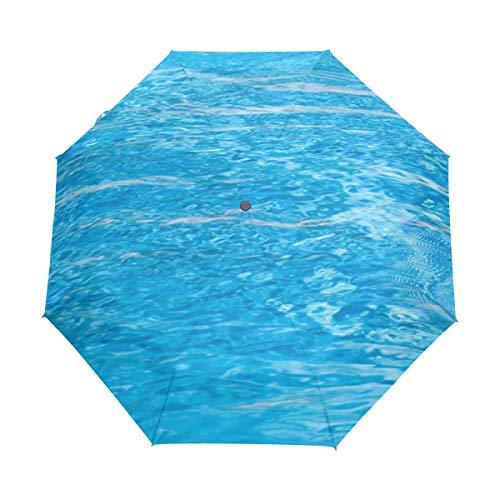 Emoya Regenschirm, Winddicht, Delfin, Schwimmen, blaues Wasser, tropisches Meer, Reise-Regenschirm, automatisches Öffnen und Schließen