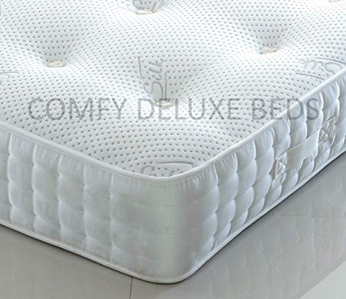 1000 | 1500 | 2000 Pocket Sprung Mattress by Comfy Deluxe LTD (3FT Single, 1000 Pocket)