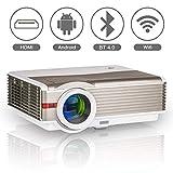 5000 Lumens Wifi Bluetooth HD Projecteur LED LCD Smart Projecteur vidéo sans fil...