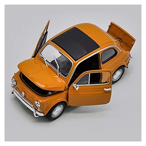 SLSM 1/18 Modelo De Coche Simulación De Aleación Modelo De Vehículo Fundido A Presión De Coches De Juguete De Metal para Fiat 500 Regalos para Niños Adultos Vehículo Diecast (Color : Amarillo)