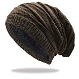Stynice Beanie Herren, Wintermütze mit Fleecefutter - Slouch Winter Beanie Mütze Strickmütze für Herren Damen