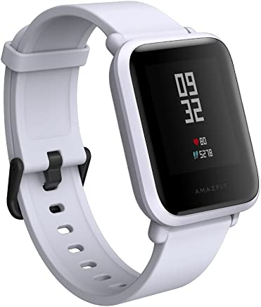 Amazfit Bip Smartwatch by Huami with All-Day Heart Rate and Activity Tracking, Sleep Monitoring, GPS, Ultra-Long Battery Life, Bluetooth, US Service and Warranty (A1608 White)