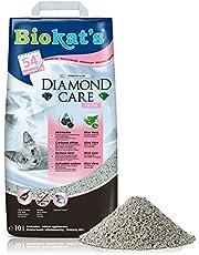 Biokat's Diamond Care Fresh z zapachem – delikatny żwirek dla kotów z aktywnym węglem i aloesem – 1 worek (1 x 10 l)