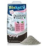 Biokat's Diamond Care Fresh, litière pour chats avec parfum - Litière agglomérante de qualité supérieure pour chats, au charbon actif et à l'Aloe vera - 1 sac en papier (1 x 10l)