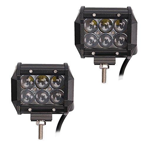 LARS360 18W LED Scheinwerfer Arbeitsscheinwerfer Fisch-Augen-4D-Objektiv Offroad Flutlicht Fluter 10V-30V Rückfahrscheinwerfer Zusatzscheinwerfer Scheinwerfer für Trecker KFZ Bagger SUV, ATV