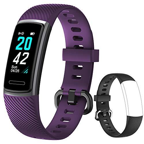 Yishark Pulsera Actividad Reloj Inteligente Mujer Fitness Tracker Niños Hombres Podómetro Reloj Deportivo Monitor de Sueño Pulsómetros Contador de Calorías Pasos Reloj Salud para Android iOS i