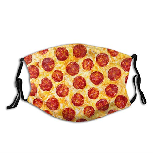 Comfortable Windproof mask,Pizza Pepperoni,Printed Facial decorations for adult