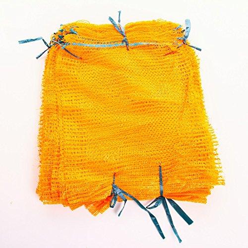 100 Raschelsäcke Obstsäcke Gemüsesäcke Kartoffelsäcke Sack Säcke Zugband 5kg 30x50cm von rg-vertrieb