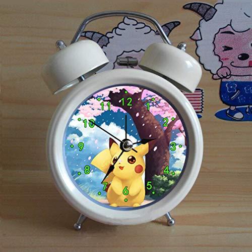Reloj despertador de Pokemon Pikachu Pikachu Despertador Pikachu Reloj Despertador Pokemon Pokémon Anime Niños Dibujos Animados Reloj Despertador