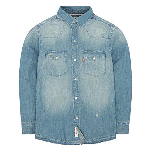 Levi's Boys' Big Denim Western Shirt, Memphis, M
