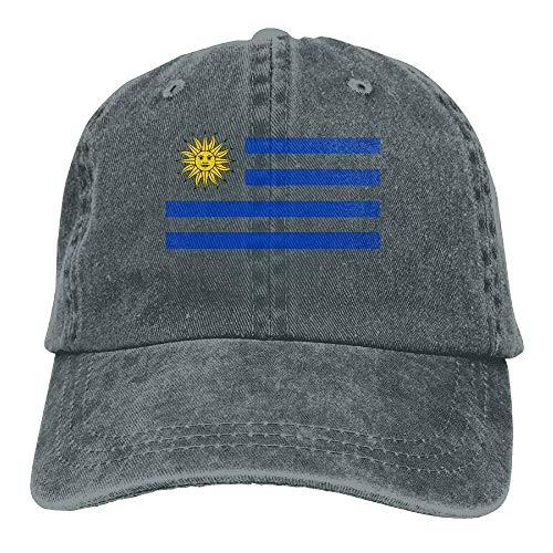 KKAIYA Uruguay Flag Unisex Adjustable Baseball Caps Denim Hats Cowboy Sport Outdoor