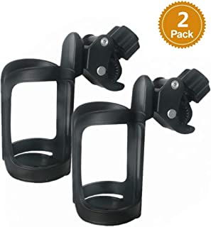 Stroller Cup Holder Universal Bike Cup Holder Rotation Drink Holder for Stroller,Bike Wheelchair and Trolleys,2 Pack
