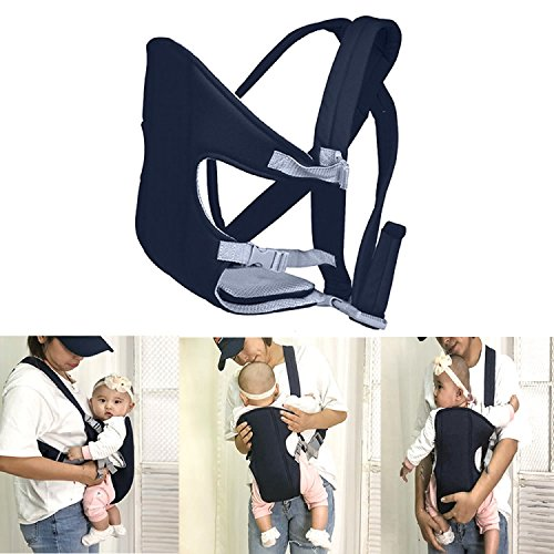 Pomeat Breathable Flip Baby Carrier Backpack with Removable CushionInfant Carrier016 Months Navy