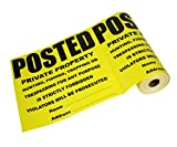 """Posted Private Property No Trespassing Tyvek Sign 