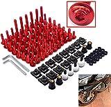 Universal Tornillos De Carenado De Motocicleta Tornillos Kit De Tornillos Moto De Sujeción Tornillo para Y.AMAHA H.Onda S.UZUKI -Rojo