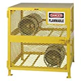 Little Giant GSH-36W-40H Yellow Gas Cylinder Storage Unit, 36' W x 38'...