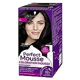 Schwarzkopf - Perfect Mousse - Coloration Cheveux - Mousse Permanente sans Ammoniaque - 98 % d'ingrédients d'origine naturelle - Noir 200