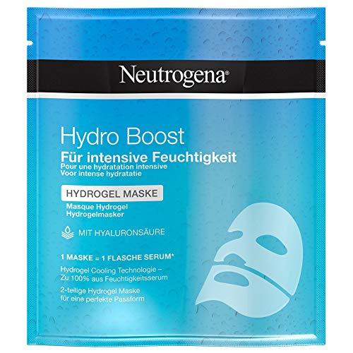 Neutrogena Hydro Boost Hydrogel Maske, pflegende Gesichtsmaske mit Hyaluronsäure für intensive Feuchtigkeit (6 x 30 ml)