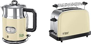 Russell Hobbs Bouilloire 1,7L, Ebullition Rapide & Toaster, Grille Pain Extra Large, Cuisson Rapide et Uniforme, Contrôle ...