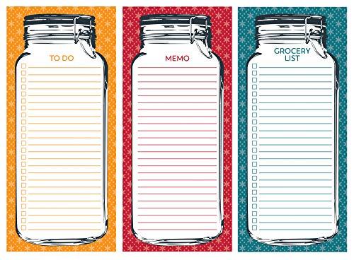 Mason Jar Notepad Set of 3