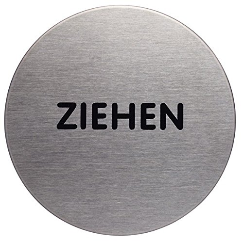 Durable 490161 Türschild Picto rund (Ziehen, 65 mm) metallic silber