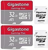 Gigastone Carte Micro SD 32 Go, Gaming Plus, Compatible Nintendo Switch, 90 Mo / s haute vitesse, Enregistrement vidéo Full HD, Micro SDHC UHS-I A1 Classe 10