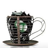 Release JJZS-BJ - Cesta de cocina, metal para cápsulas de café, soporte para cápsulas de café Nespresso, tarro de almacenamiento, accesorio para decoración del hogar