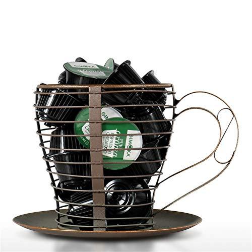 Yousiju Cesta de Cocina, Recipiente de Metal para cápsulas de café, Recipiente para cápsulas Nespresso, Taza de café, Tarro de Almacenamiento, Accesorio de decoración del hogar