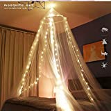esafio Moskitonetz Bett, Groß Mückennetz inkl. Montagematerial,  Moskitoschutz Doppelbetten mit extra großem Spannring für Zuhause auch auf der Reise - 2