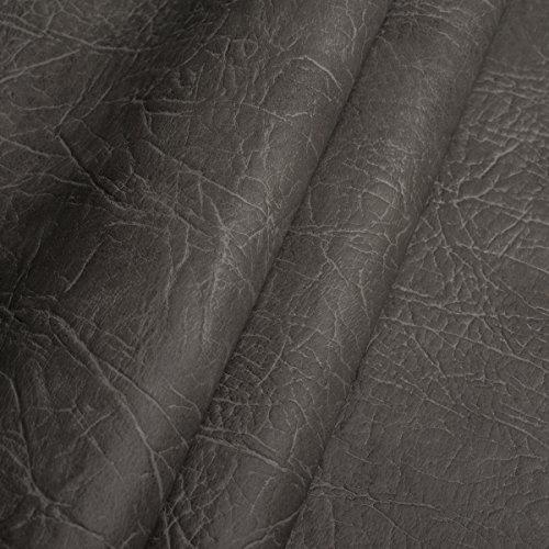 EDGE Exklusives Kunstleder Mammut Meterware Polsterstoff Bezugsstoff Grau