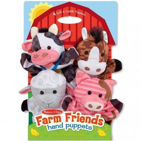 Melissa and doug - 4 Marionnettes à main Animaux ferme velours jouet pour enfants à partir de 2 ans