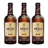 Ron Abuelo Añejo 7 Años de 70 cl - Elaborado en Panama - Varela Hermanos S.A. (Pack de 3 botellas)