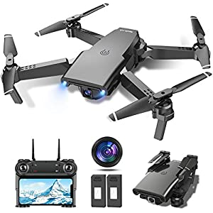 tech rc Optical Flow Drone with HD Camera 1080P Foldable RC Quadcopter for Adults,2 batteries,Headless Mode 3D Flips G-Sensor 3 Speeds Switching FPV Live Video Drones for Beginner