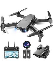 tech rc Drönare med kamera 1080P HD optiskt flöde RC Quadcopter, 2 batterier 24 minuter, 3D-flips gravitationskontroll 3 hastigheter höjdhåll huvudlöst läge live video Wifi hopfällbara FPV-drönare för nybörjare