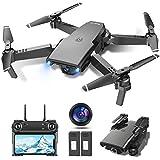 tech rc Drone con Cámara HD 1080P, Drone FPV Plegable Drone Profesional Posicionamiento...