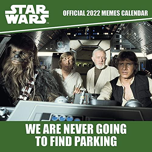 Disney Star Wars Memes Calendrier 2022 – Calendrier familial mensuel 30 cm x 30 cm – Produit officiel