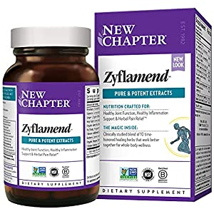 New Chapter MultiHerbal + Joint Supplement Zyflamend Whole Body for Healthy Inflammation Response + Herbal Pain Relief, Vegetarian Capsules, 180 Count