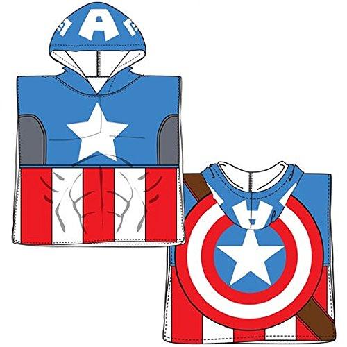 Marvel Serviette poncho à capuche Avengers Captain America