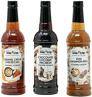 Jordan`s Skinny Syrup Dessert Collection - Caramel Creme Cheesecake, Chocolate Coconut Macaron, Iced Cinnamon Roll (Origin...