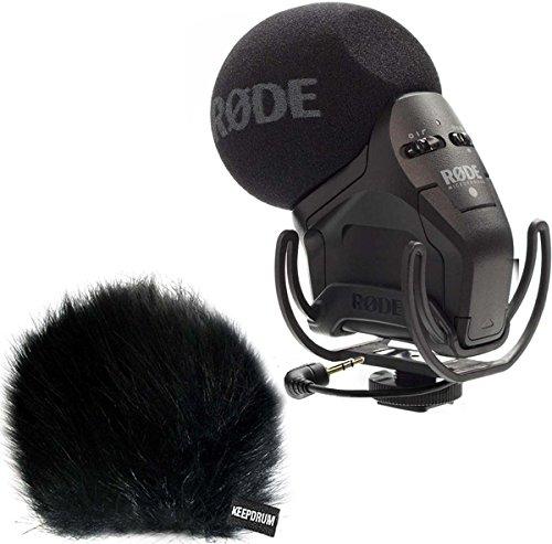 Rode SVMPR Stereo Videomic Pro Rycote Kamera Mikrofon + keepdrum WSBK Fell-Windschutz