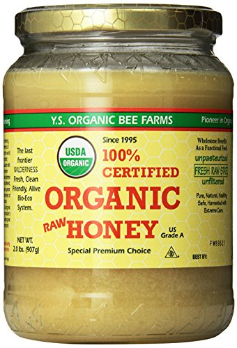 YS Organic Bee Farms Certified Organic Raw Honey 100% Unprocessed Unpasteurized  Kosher 32oz 2 Lbs