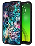 ANLI Moto G7 Power Case, Moto G7 Optimo Maxx Case 6.2 inch, Fashion Colourful Mandala Design Slim Fit Drop Protection Hybrid Dual Layer Armor Protective Case Cover for Girls, Boys, Women and Men