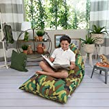 Butterfly Craze Camo Pattern Stuffed Animal Storage Bag & Bean Bag Chair Cover - Toy Organizer & Floor Lounger in One with Extra Large Capacity & Premium Cotton Canvas